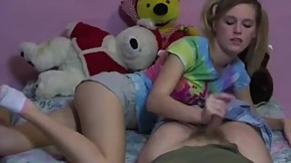 teen handjob in white socks