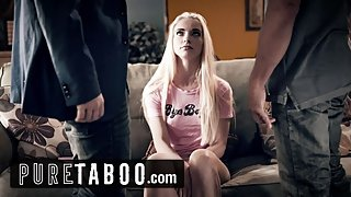 PURE TABOO Father & Teacher Conspire to DP Teen Step-Daughter