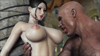 Animated Big Tits Rammed by Huge Dick