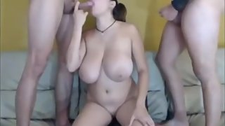 Horny amateur babe and her two best friends