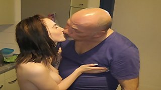 Her husband fucks her with my sperm in her face!