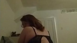 Shaking my ass in Black Lacy Lingerie