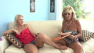 Hot Blonde Mature Stepmom was worrying about Report Card of Petite Sexy Avi