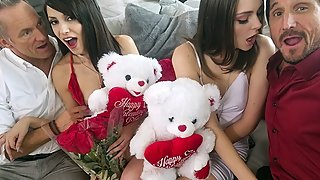 Horny Dads Swap And Fuck Their Stepdaughters
