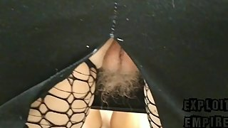 Fetish pantyhose stockings. Looks under skirt. Delicious ass. Hairy pussy.