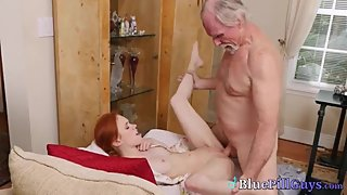 Horny Sweet Little Dolly Makes Old Guys Feel Very Jolly