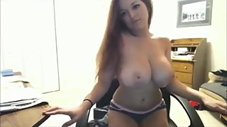 Gorgeous amateur babe with perfect boobs on webcam