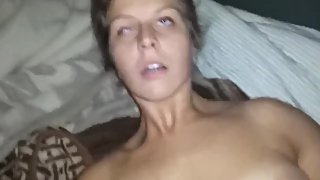 Naughty babe having a real orgasm with her ex boyfriend