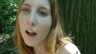 Innocent girl gets her tight pussy filled up with cum by her ex