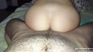 Sex with my hot athletic whore and i cum on her back (full version)