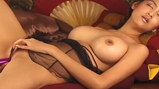 Asian Amateur Showing Off Her Hairy Pussy To Her Man