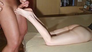 Cock & balls tease till my slave cum on my feet HD FULL